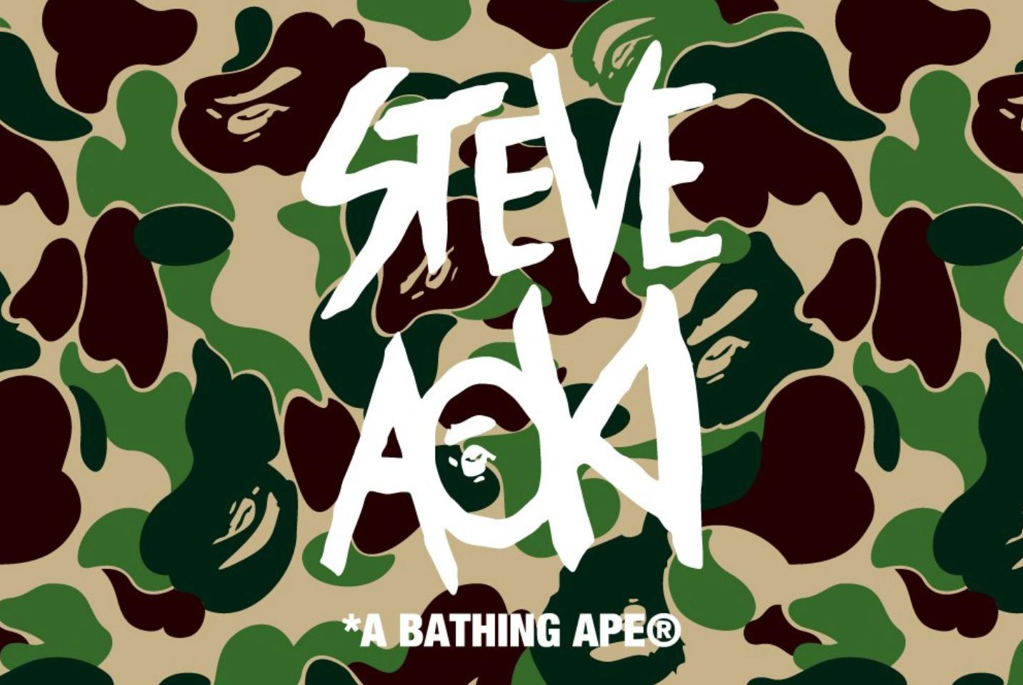 A BATHING APE® x STEVE AOKI 8/18(土) 発売予定