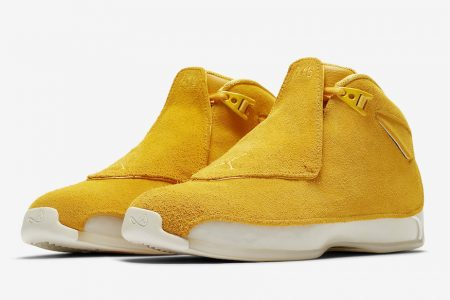 "NIKE AIR JORDAN 18 RETRO ""YELLOW"" 9/15 発売"