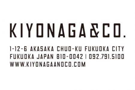 KIYONAGA&CO. × 伝統工芸品がコラボレーション