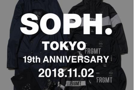 SOPH.TOKYO 19周年記念スペシャルアイテムが発売