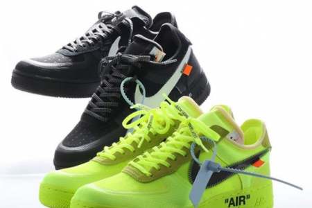 "Off-White™ × NIKE AIR FORCE 1 ""BLACK"" & ""VOLT"" 発売情報解禁"