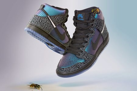 "BLACK SHEEP x NIKE SB DUNK HIGH PRO QS ""BLACK HORNET"" 発売"