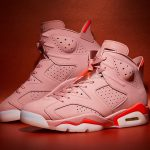 "NIKE AIR JORDAN 6 × ALEALI MAY ""MILLENNIAL PINK""発売"