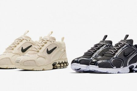 "STÜSSY × NIKE AIR ZOOM SPIRIDON CAGED ""FOSSIL"" 4/3(金)発売"