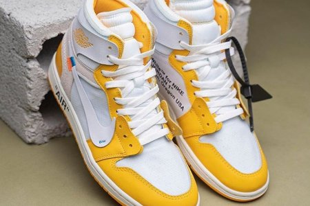"Off-White™ × NIKE AIR JORDAN 1 HIGH ""YELLOW"" 今年中に発売か"
