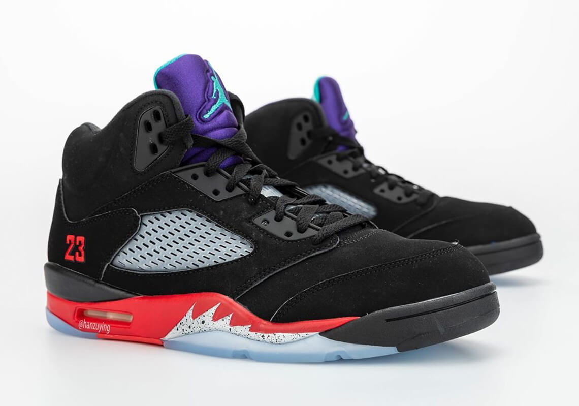 NIKE AIR JORDAN 5 FIRE RED/GRAPE