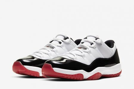 NIKE AIR JORDAN 11 LOW WHITE/BRED 6/20(土)発売