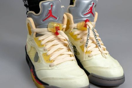 "NIKE AIR JORDAN 5 × Off-White™ ""SAIL"" 10/24(土)発売か"
