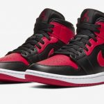 "<販売店記載>NIKE  AIR JORDAN 1 MID ""BRED""(GS) 11/13(金)発売"