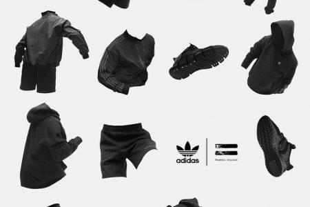 """<販売店記載>adidas × Pharrell Williams """"Triple Blackコレクション"""" 12/12(土)発売"""