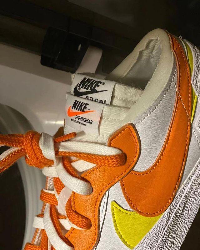 """Sacai x Nike Blazer Low """"Orange"""""""