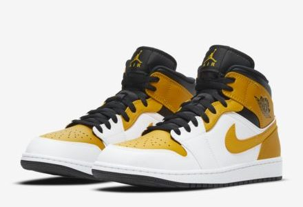 "<販売店記載>NIKE AIR JORDAN  1 MID  ""University Gold"" 2/12(金)発売"